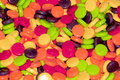 Colorful sweet and sour candy treats. Royalty Free Stock Photography