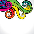Colorful swirl design background Stock Image