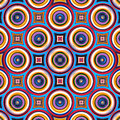 Colorful symmetrical abstract circle shapes pattern illustration Stock Photography