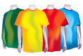 Colorful T-Shirts Stock Photos