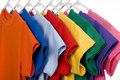 Colorful T-Shirts on White Royalty Free Stock Photo