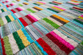 Colorful tablecloth at pran havana resort pranburi Stock Images