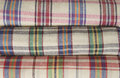 Colorful tablecloth texture wallpaper picnic blanket Royalty Free Stock Photo