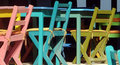 Colorful Tables & Chairs Royalty Free Stock Images