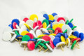 Colorful tacks for office use Royalty Free Stock Photography