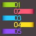 Colorful Tag for different Choice Royalty Free Stock Photography