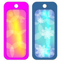 Colorful tags or labels with hearts and flowers Royalty Free Stock Photo