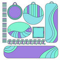 Colorful tags, labels and trims collection Stock Image