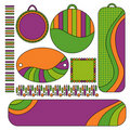 Colorful tags, labels and trims collection Royalty Free Stock Photography