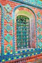 Colorful tails old church facade in yaroslavl russia are traditional decoration of churches one of the city Stock Photos