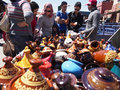 Colorful tajines marrakesh mar selection of very moroccan morocco on mar Royalty Free Stock Images