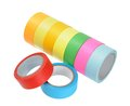 Colorful tape rolls isolated on white Royalty Free Stock Photo