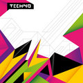Colorful techno background. Royalty Free Stock Images