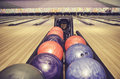 Colorful tenpin bowling ball Royalty Free Stock Photo