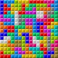 Colorful Tetris board background Royalty Free Stock Photos