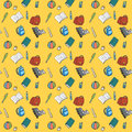 Colorful textile school pattern vector seamless Royalty Free Stock Photos