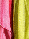Colorful textiles abstract texture Royalty Free Stock Images