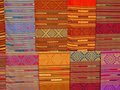 Colorful textiles in Laos Royalty Free Stock Photo