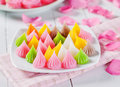 Colorful thai dessert traditional close up Royalty Free Stock Photo