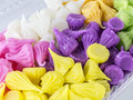 Colorful thai desserts close up Royalty Free Stock Photography
