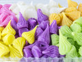 Colorful thai desserts close up Royalty Free Stock Photo