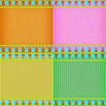 Colorful thai new style card board texture for note or congratulate Royalty Free Stock Images