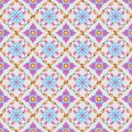 Colorful thai traditional art seamless pattern.