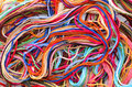Colorful thread floss as background Stock Images