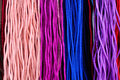 Colorful threads colourful tribal handycraft in chiangmai Royalty Free Stock Image