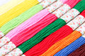 Colorful threads set background close up Stock Photos