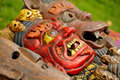 Colorful Tibetan Masks Stock Photography