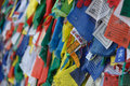 Colorful tibetan prayer flags in Nepal Royalty Free Stock Photo