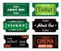Colorful tickets Stock Photos