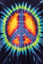 Colorful Tie Dye Peace Sign Pattern Design Royalty Free Stock Photo