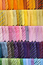Colorful ties Stock Images