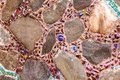 Colorful tile and rock  pattern background Royalty Free Stock Images