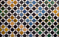 Colorful tiles, arabic style, in the Alhambra Royalty Free Stock Images