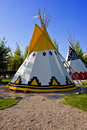 Colorful tipis Stock Photography
