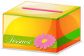 A colorful tissue box Royalty Free Stock Photo
