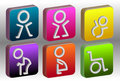 The colorful toilet sign 3d vector Stock Photos