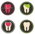 Colorful tooth illustrations beautiful designs isolated on a white background Royalty Free Stock Photography