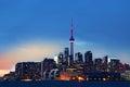 Colorful Toronto, Canada skyline at dusk Royalty Free Stock Photo