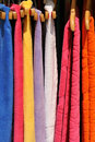 Colorful towels on sale Royalty Free Stock Image