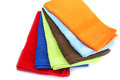 Colorful towels on white background Royalty Free Stock Photo