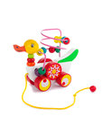 Colorful toy duck isolated Royalty Free Stock Photo