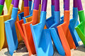 Colorful toy shovel coloful as sequence Royalty Free Stock Photography