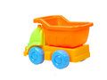 Colorful toy truck isolated on white background Royalty Free Stock Images