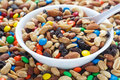 Trail Mix in White Bowl Royalty Free Stock Photo