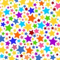 Colorful Transparent Seamless Star Background PNG