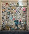 Wall art in Trastevere, Rome.
